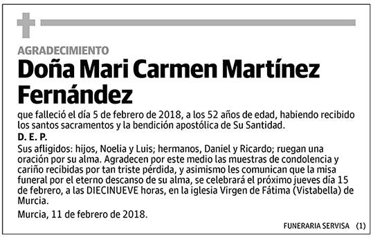 Mari Carmen Martínez Fernández