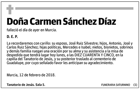 Carmen Sánchez Díaz