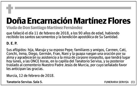 Encarnación Martínez Flores