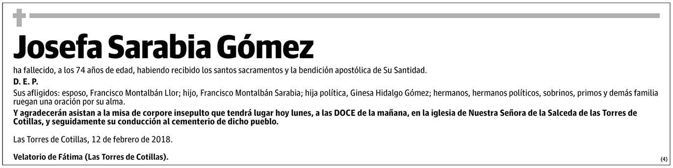 Josefa Sarabia Gómez