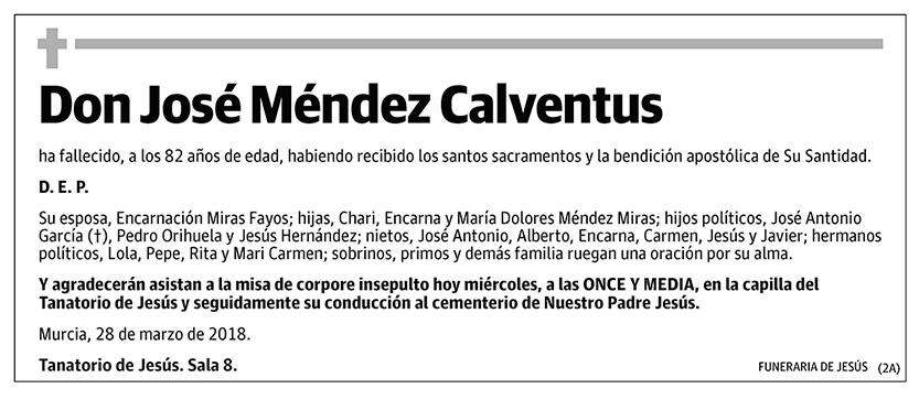 José Méndez Calventus