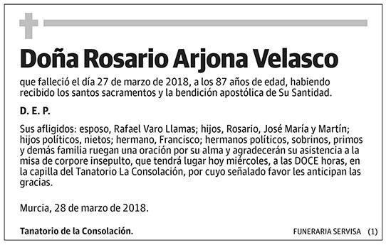 Rosario Arjona Velasco