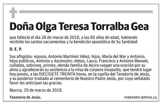 Olga Teresa Torralba Gea
