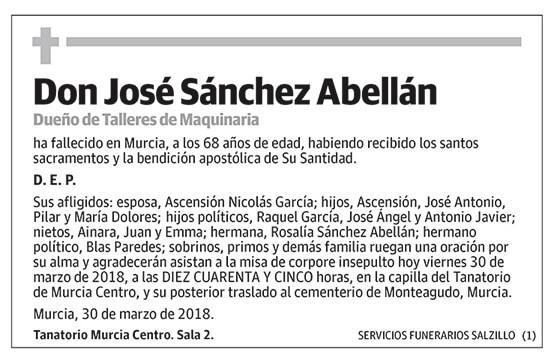 José Sánchez Abellán
