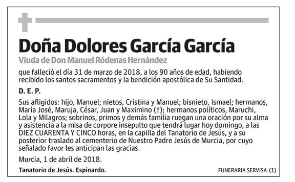 Dolores García García
