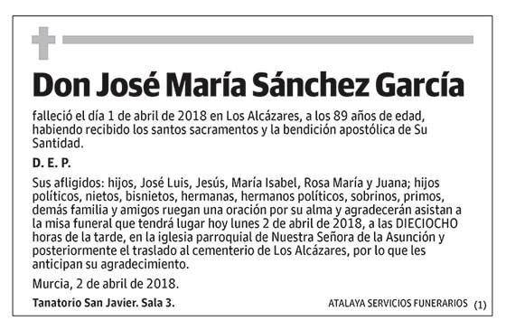 José María Sánchez García