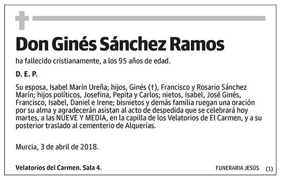 Ginés Sánchez Ramos