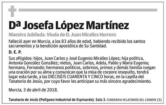 Josefa López Martínez