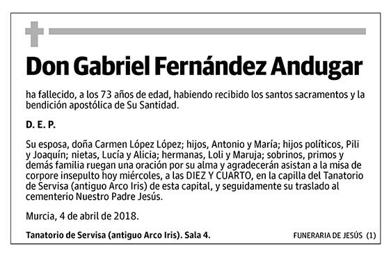 Gabriel Fernández Andugar