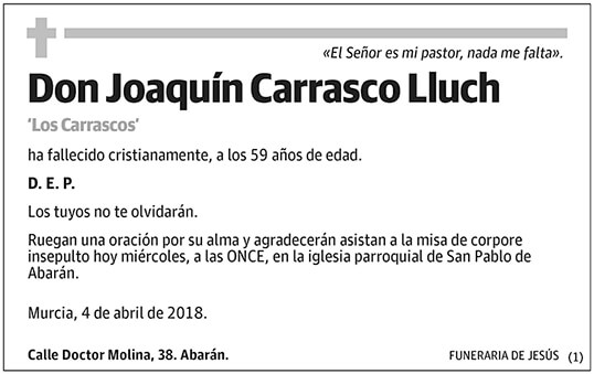 Joaquín Carrasco Lluch