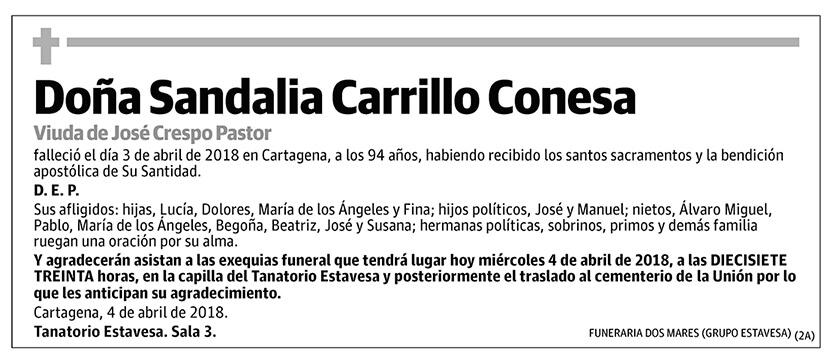 Sandalia Carrillo Conesa