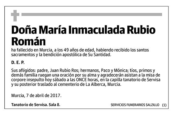María Inmaculada Rubio Román