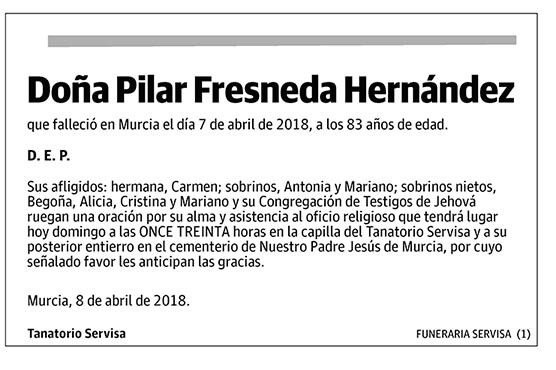 Pilar Fresneda Hernández