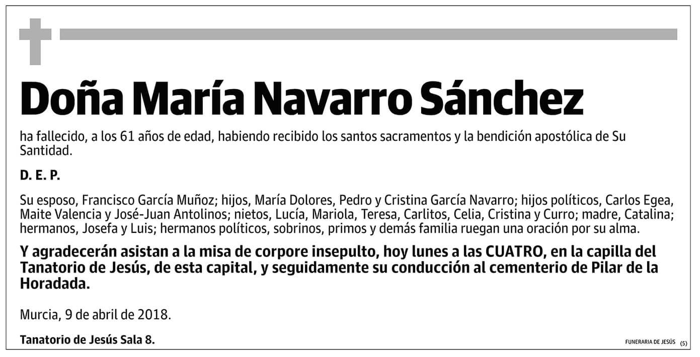 María Navarro Sánchez