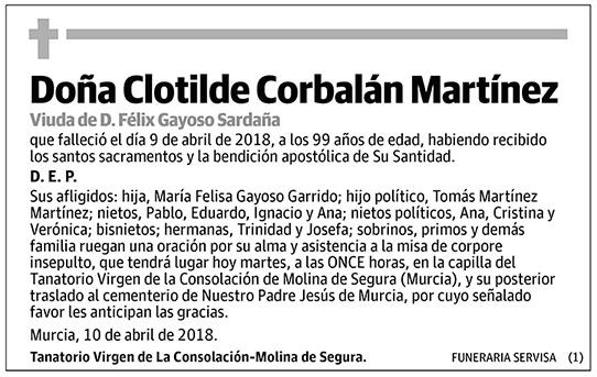 Clotilde Corbalán Martínez