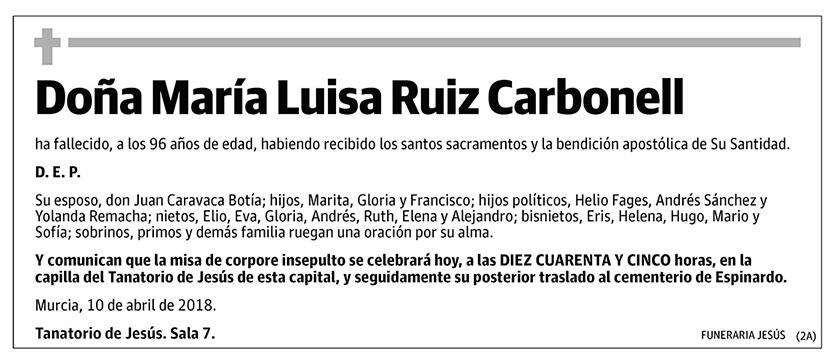 María Luisa Ruiz Carbonell