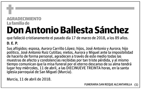 Antonio Ballesta Sánchez