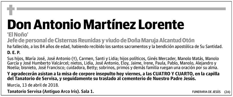 Antonio Martínez Lorente