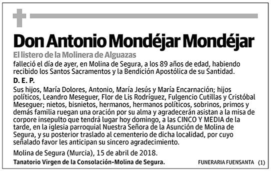 Antonio Mondéjar Mondéjar