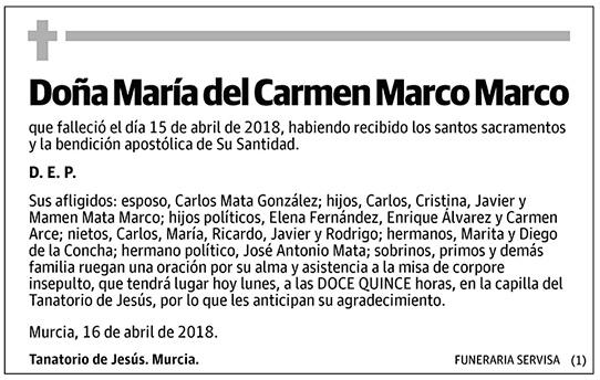 María del Carmen Marco Marco