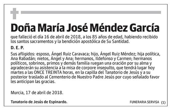 María José Méndez García