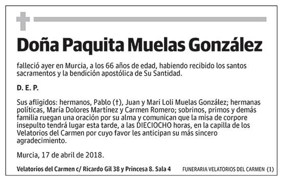 Paquita Muelas González