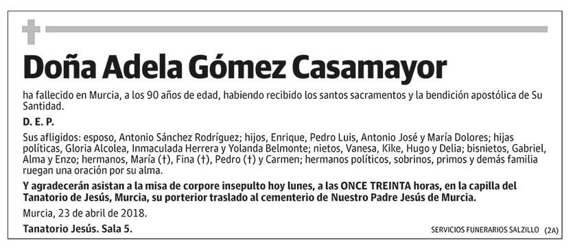 Adela Gómez Casamayor