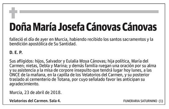 María Josefa Cánovas Cánovas