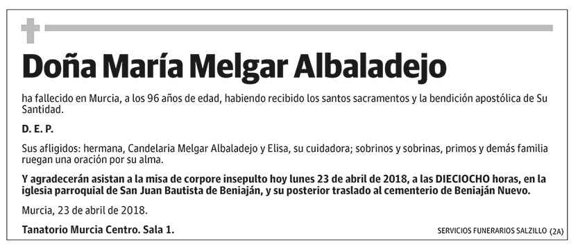 María Melgar Albaladejo