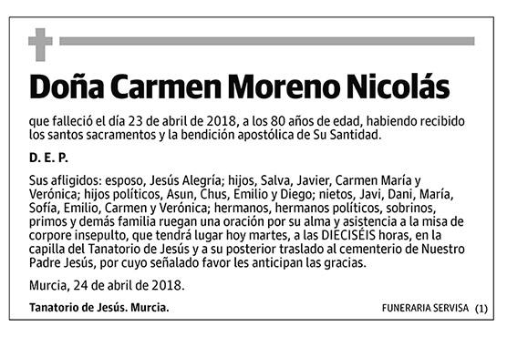 Carmen Moreno Nicolás