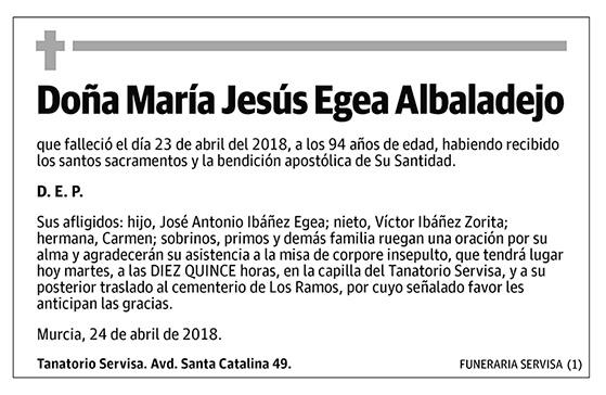 María Jesús Egea Albaladejo