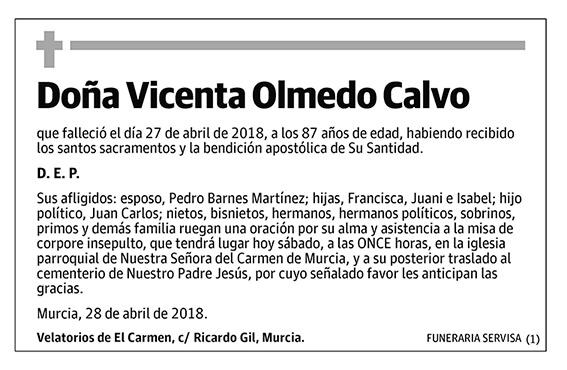 Vicenta Olmedo Calvo