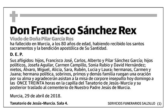 Francisco Sánchez Rex
