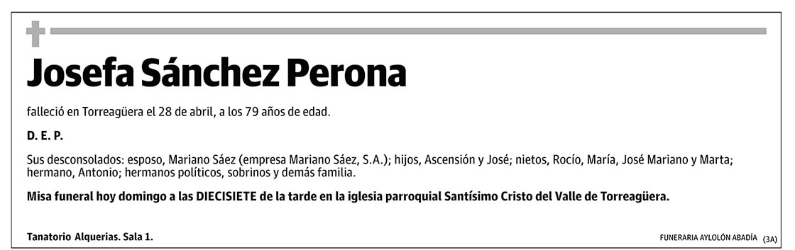 Josefa Sánchez Perona