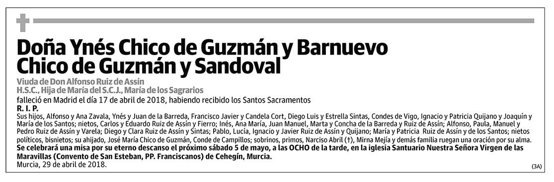 Ynés Chico de Guzmán y Barnuevo Chico de Guzmán y Sandoval