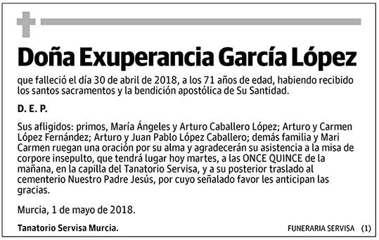 Exuperancia García López