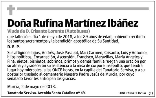 Rufina Martínez Ibáñez