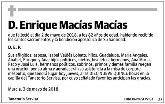 Enrique Macías Macías