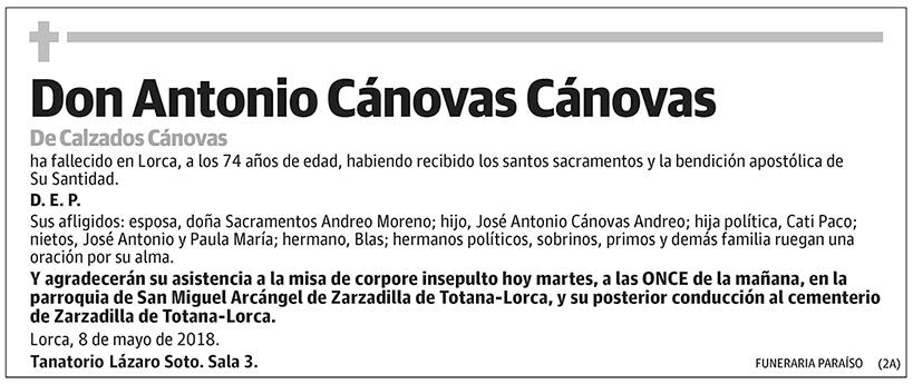 Antonio Cánovas Cánovas