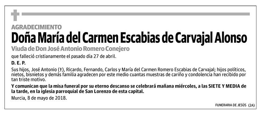 María del Carmen Escabias de Carvajal Alonso