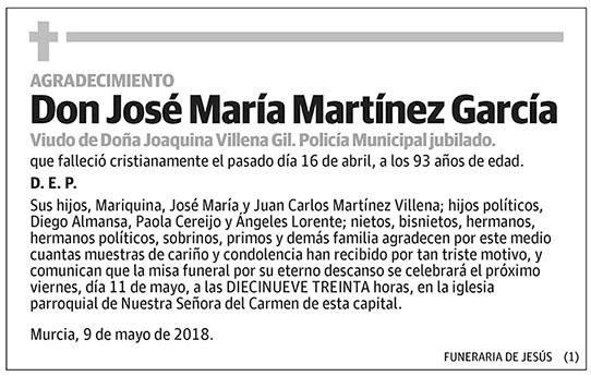 José María Martínez García