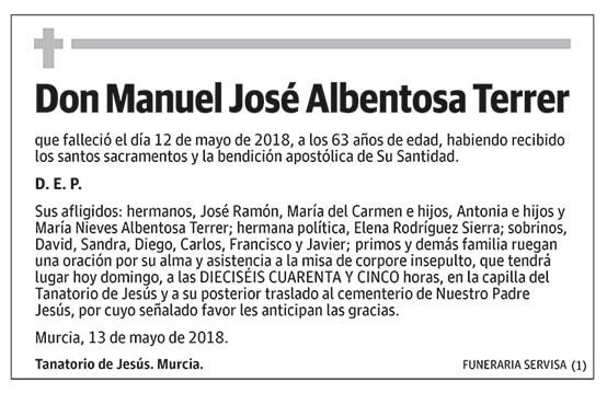 Manuel José Albentosa Terrer