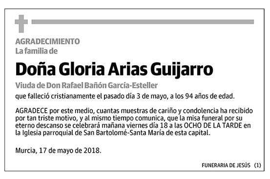 Gloria Arias Guijarro