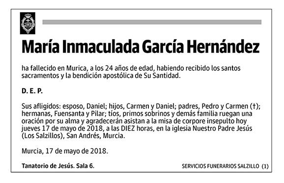 María Inmaculada García Hernández