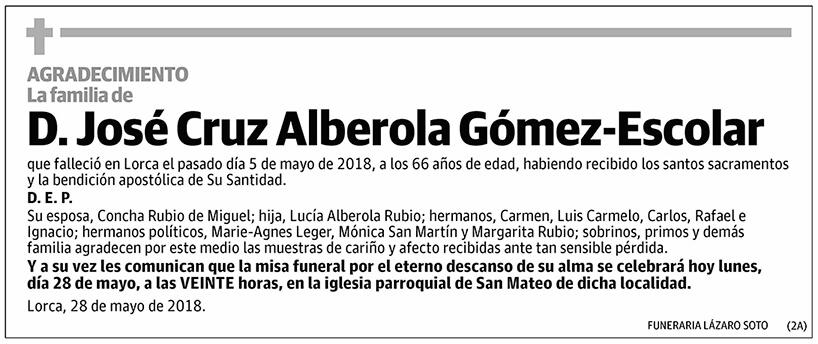 José Cruz Alberola Gómez-Escolar