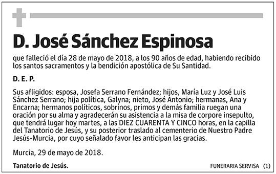 José Sánchez Espinosa