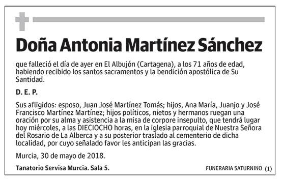 Antonia Martínez Sánchez