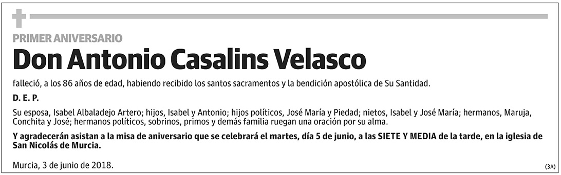 Antonio Casalins Velasco