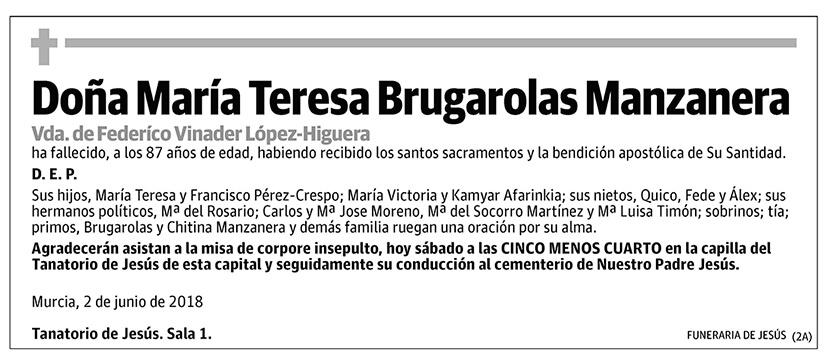 María Teresa Brugarolas Manzanera
