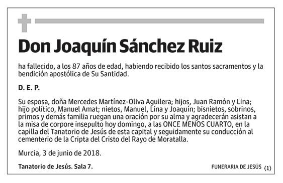 Joaquín Sánchez Ruiz
